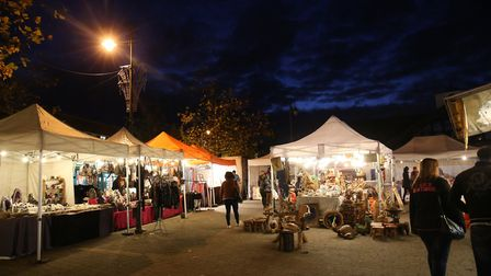 The Biggleswade Flavours of the World food market in 2017. Picture: Danny Loo