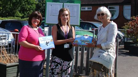 Deputy Head at Hilshott Infant and Nursery School Rebecca Massey with school business manager Sarah