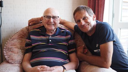 Paul volunteered as a compassionate neighbour and was introduced to Alan. Picture: Garden House Hosp
