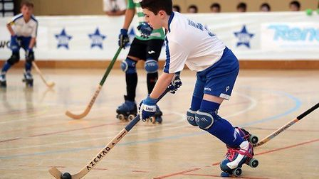 Luca Oakley has been recognised at under 13s rink hockey Player of the Year. Picture: Courtesy of Gi