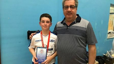 Luca Oakley, 12, now has his sights set on securing a place in the U15 championship England squad ne