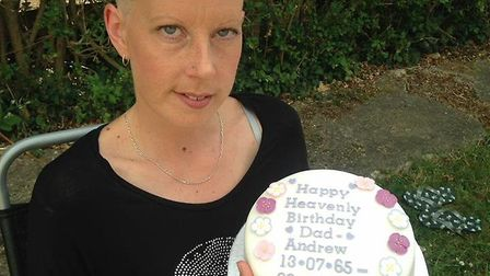 Kimberley braved the shave in her dad's memory, on what would have been his birthday. Picture: Court