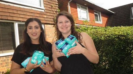 Sanya Masood and Sophie Harrold have launched their ninth campaign to collect sanitary products for