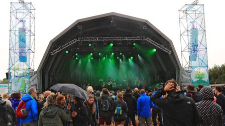 Gaz Coombes play to a rain drenched crowd at Standon Calling Festival 2018. Picture: KEVIN RICHARDS