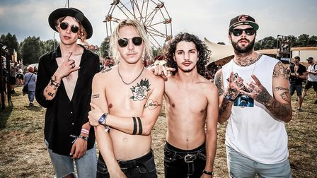 The Hunna take a wander around the festival at Standon Calling Festival 2018. Picture: KEVIN RICHARD