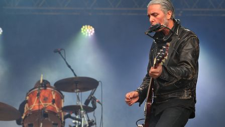 Peter Hayes of Black Rebel Motorcycle Club at Standon Calling Festival 2018. Picture: KEVIN RICHARDS