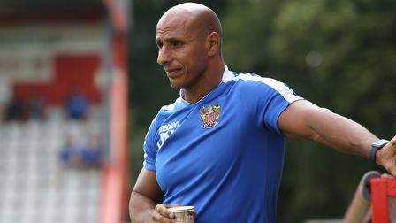 Manager of Stevenage FC Dino Maamria (pic Danny Loo)