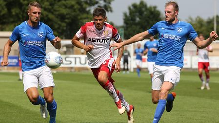 Alex Revell in action against Portsmouth (pic Danny Loo)