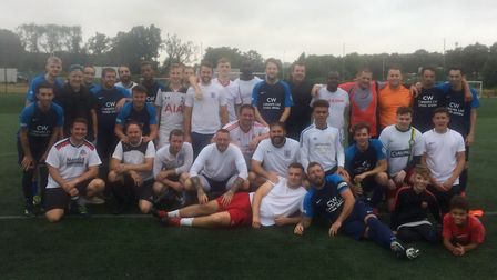 People from all walks of life came together for a football match at The Valley School in Stevenage t