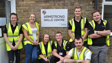 A team of trainees at Fortem in Hitchin chose Brandles School for their project. Picture: Danny Devi