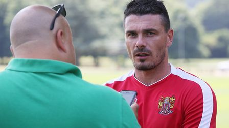 Stevenage legend Ronnie Henry speaks to The Comet's Layth Yousif on the first day of Stevenage FC pr