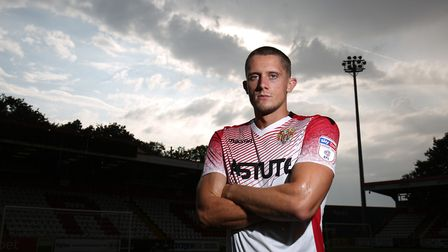 James Ball of Stevenage at the Lamex stadium. Picture: DANNY LOO