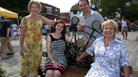 (left) Anna Gatward, (centre) Ben Gatward and (right) Lisa Gatward with the eighth generation of the