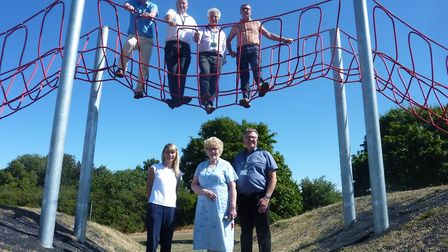 Councillors and representatives from Groundwork Hertfordshire unveiled the newly refurbished play ar