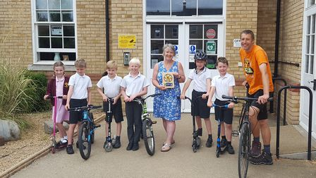 Fairfield Park Lower School are celebrating winning the Big Pedal competition. Picture: Gary Ridley