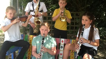 Highover JMI School youngsters at the summer concert. Picture: Vanessa Atha