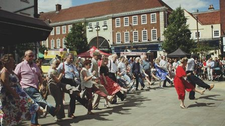 It was dancing gallore as visitors joined in the festivies. Picture: Love Letchworth