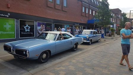 A classic car display was a crowd pleaser at the Letchworth Vintage Festival. Picture: Love Letchwor