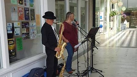 Live music and dancing took place in the Arcade in Letchworth. Picture: Love Letchworth
