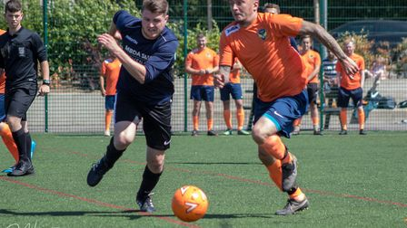 The charity football match in memory of Stevenage's Mike Quinlan. Picture: DJH Images