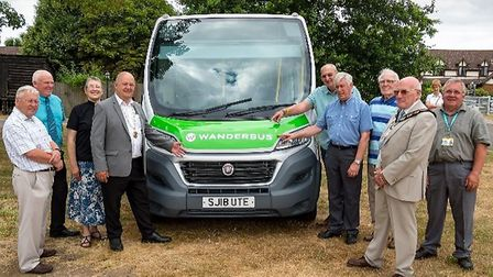 The unveiling of the new Wanderbus at Mount Pleasant Golf Club. Picture: Clive Lester