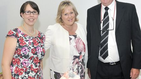 Police and crime commissioner Kathryn Holloway with chief executive Clare Kelly and chair of the pol