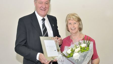 Colleen Atkins won the lifetime achievement award. Picture: Grace Foster