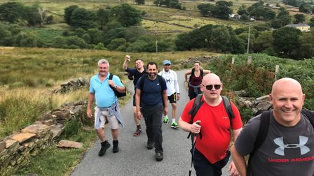 Specsavers staff from across the UK hiked up Mount Snowdon in memory of Priya Mistry. Picture: Paul