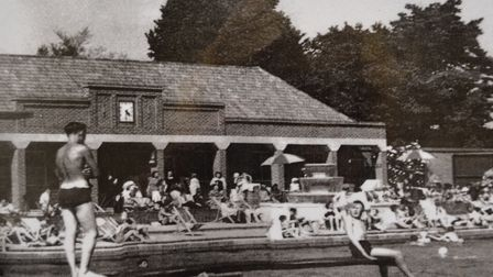 Swimming at Hitchin's outdoor pool back in 1938. Picture: NHDC