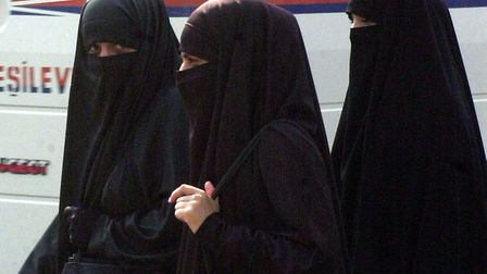 Women wearing the niqab. Picture: Marcello Casal Jr/ABr.