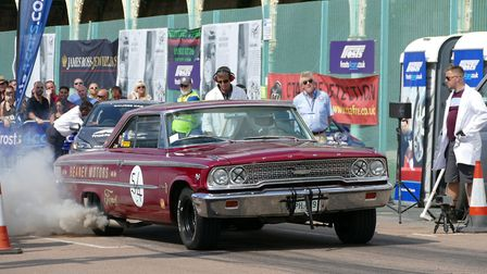 A Ford Galaxy at the 2017 Brighton Speed Trials. Picture: Simon Franks