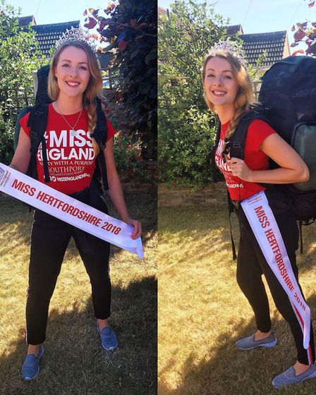 Kate has been crowned Miss Hertfordshire, and now has her sights set on the Miss England crown. Pict