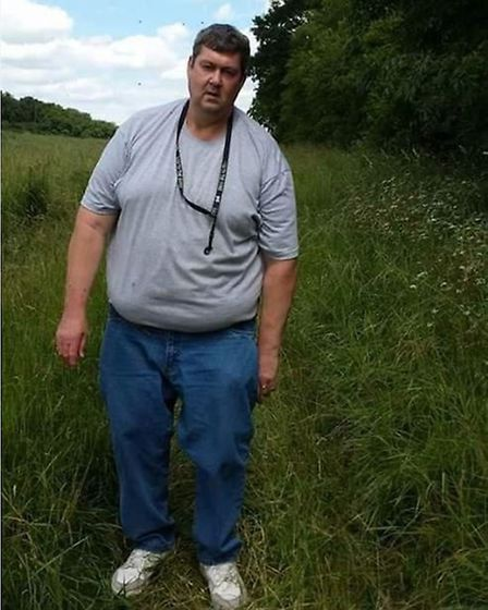 Trevor Broom before his dramatic weight loss. Picture courtesy of Slimming World.