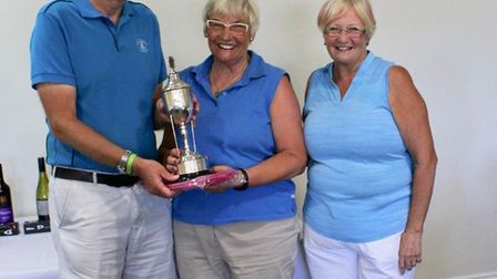 Mount Pleasant Golf Club raised more than £400 for charity at their annual lady captain's day. Pictu