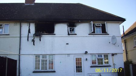 The scene after the fire in Letchworth's Chiltern View. Picture: NHDC