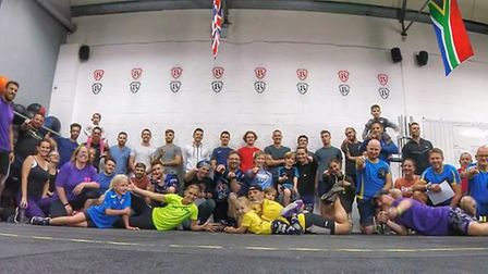 Participants at CrossFit Beowulf's charity day helped raise more than £700 for Cancer Research UK. P