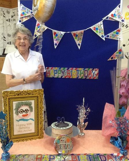 Jean Archer was bowled over with 90th birthday surprise. Picture: Christina Anderson.