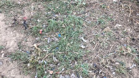Plastic waste ploughed into fields near Whitwell. Picture: Paul Meccano