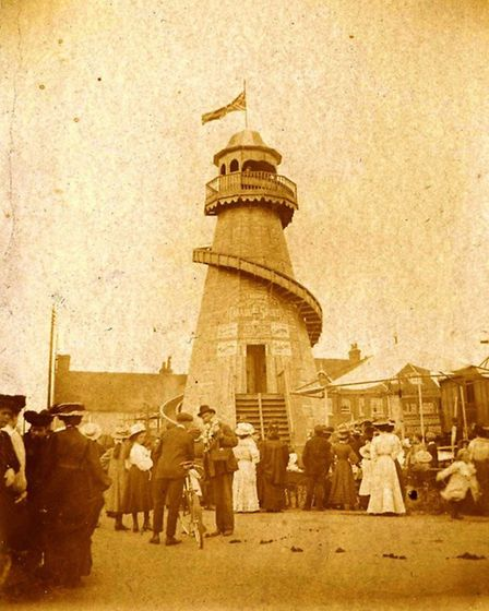 The helter skelter at the fair in 1907