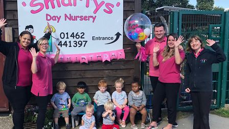 Celebrating 25 years at Smartys Day Nursery in Hitchin. Picture: Smartys