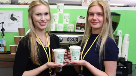 Showing off the new eco-packing at Hitchin Girls' School. Picture: HCL