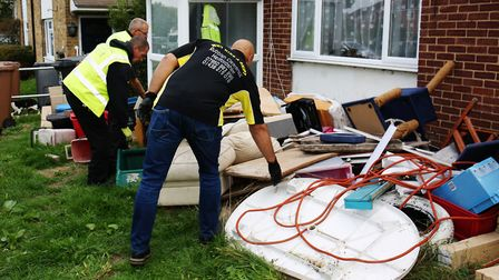 Richard Harknett of Rubbish Clearance Herts offered to clear rubbish left on Paul Smith's lawn after