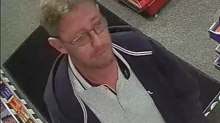 Officers want to talk to this man in connection with an alleged racist assault at the Esso garage in