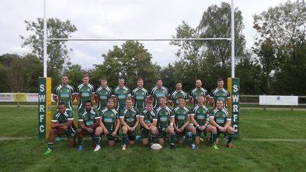 Saffron Walden Rugby Club face the camera at the start of a new season