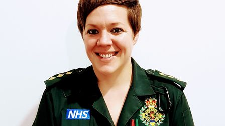 Paramedic Vicky Lovelace-Collins has died after a crash in Lonsdale Road, Stevenage, on Wednesday.