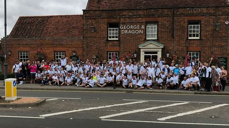 More than 100 cyclists came along to the 14th annual charity bike ride in Graveley, in aid of Garden