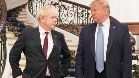 U.S. president Donald Trump and Britain's prime minister Boris Johnson. (Photo by Stefan Rousseau -