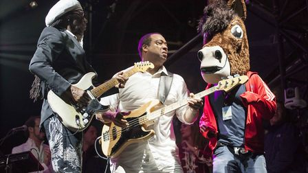 Nile Rodgers and Chic at Newmarket Nights. Picture: Angela Smith