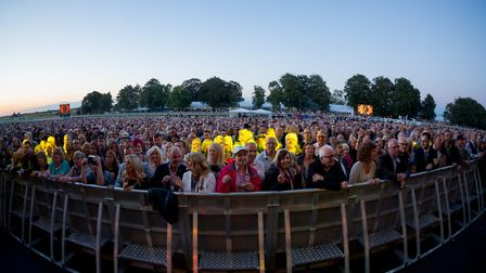 Nile Rodgers and Chic at Newmarket Nights. Picture: Andy Tattersall/The Jockey Club Live