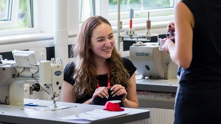 North Herts College fashion student smiling